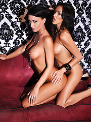 Jessica Meets Breanne Pics - Jessica Jaymes and Breanne Benson are two busty brunettes made in porn heaven