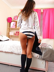 Sexy Anna-Maria gets naughty in the bedroom after school